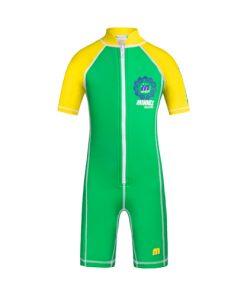 綠色1.5mm短袖防曬連身保暖