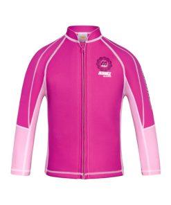 玫紅/粉紅色1.5mm長袖防曬上衣保暖